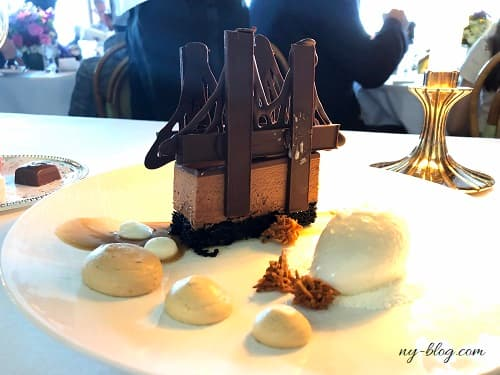 ニューヨークのリバーカフェのデザート