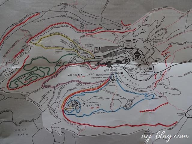 モホンク・マウンテン・ハウスのハイキングコース
