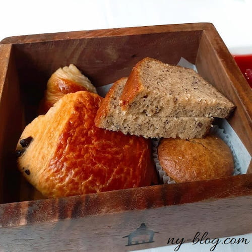 モホンク・マウンテン・ハウスの朝食