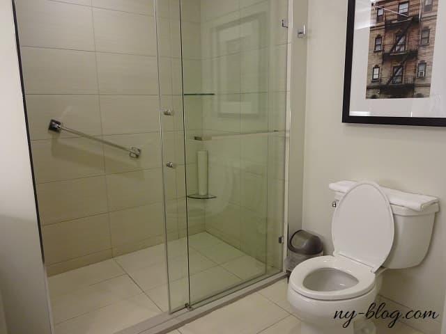 ハイアット ハウス ジャージー シティのバスルーム